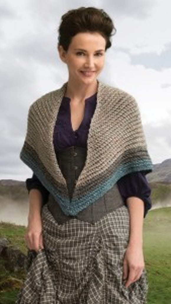 This is the crochet version of the Lion Brand authorized pattern for an Outlander shawl. This is the MacKenzie Clan shawl.