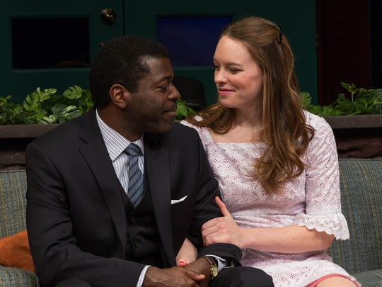 "Chiké Johnson and Annie Munch star in Indiana Repertory Theatre's production of ""Guess Who's Coming to Dinner,"" running through Feb. 4, 2017."