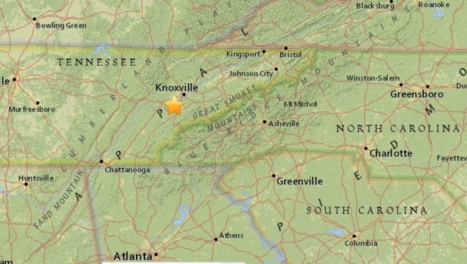 An earthquake near Louisville, Tenn., shook residents on Monday night.