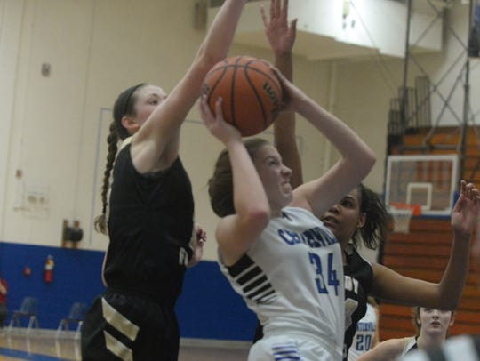 Winchester's Shelby Miller, left, and Kira Robinson,