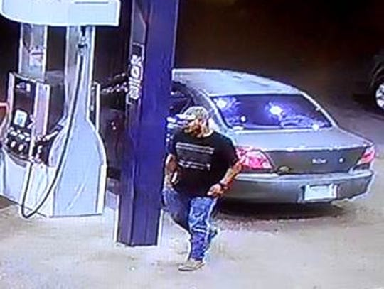 Police say this man is a suspect in the April 13 theft