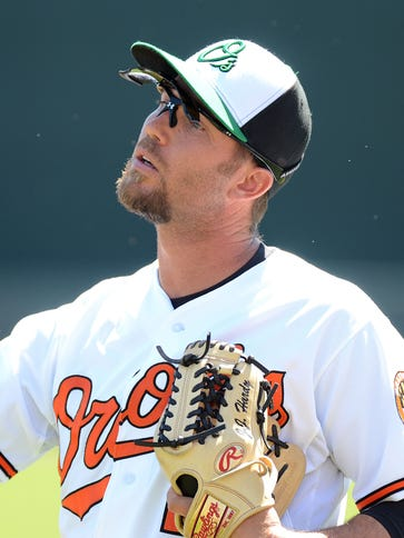 J.J. Hardy was hurt Friday when he collided with second