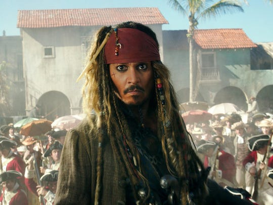 "Johnny Depp portrays Jack Sparrow in ""Pirates of the"
