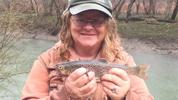 Carol caught this brown trout Friday on Cayuta Creek.