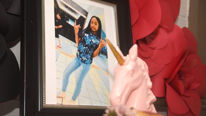 A memorial service is held as a tribute to 15-year-old homicide victim, Timicca Nauta, at the Dededo Senior Center on Saturday, July 28, 2018. A death investigation was launched by the Guam Police Department on June 19 after the 15-year-old teen was found lifeless at the family's home along Chalan Koda in Dededo.