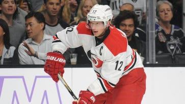 Carolina Hurricanes captain Eric Staal has four goals and 12 points this season.