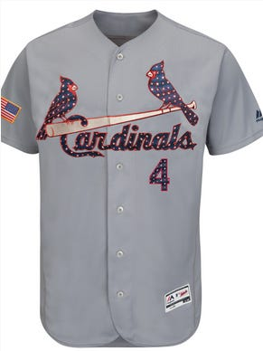 The Cardinals will wear this uniform for the 4th of July.