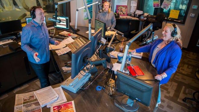 "Jeff Thomas, Jennifer Fritsch and Jenn Jordan of WKRQ-FM's ""Jeff & Jenn"" morning show."