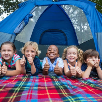 Camping can be a great family activity.