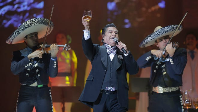 "Juan Gabriel plays a concert in El Paso Sunday on his ""Noa Noa"" Tour."