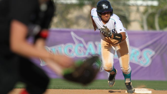 The Florida SouthWestern State College softball team faced off against the Polk State College Eagles Tuesday afternoon in a double header at City of Palms Park in Fort Myers. The Buccaneers won the first game 8-3 and the second game 10-0.