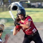 Allie Ellerbe bats for East Ouachita Monday in the Dixie Softball World Series at ULM.