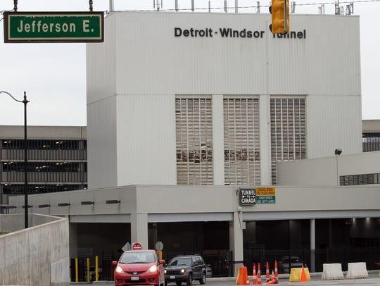 The Detroit-Windsor Tunnel.