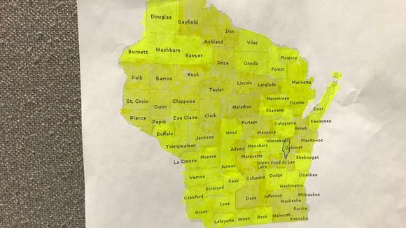 That's a wrap. I've either ran, ridden (bicycle) or rowed (kayak) in each of Wisconsin's 72 counties.
