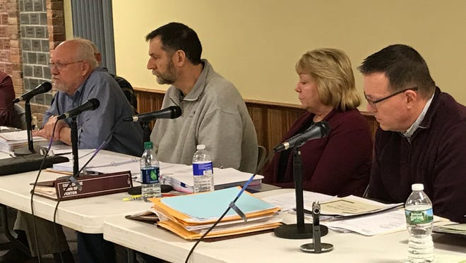 Town of Fenton Zoning Board of Appeals members, left to right, Dale Grergory, Mike Ward, Cindy Cook, and Mike Lidell. On Tuesday, the board rejected the NG Advantage compressor/transfer station project.