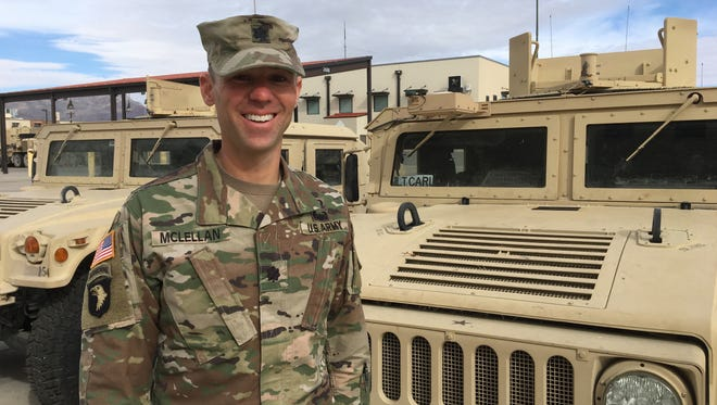 Lt. Col. Scott McLellan has led the 3rd Battalion, 43rd Air Defense Regiment for the past 26 months. He will relinquish command on Tuesday.