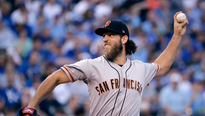 San Francisco Giants starting pitcher Madison Bumgarner is 0-3 this season in four starts.