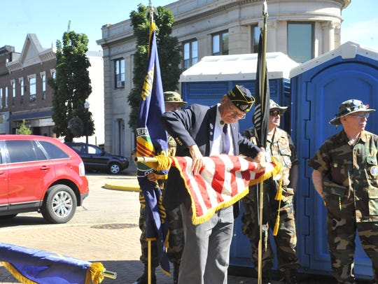 Veterans groups prepare for a 9/11 ceremony Sunday