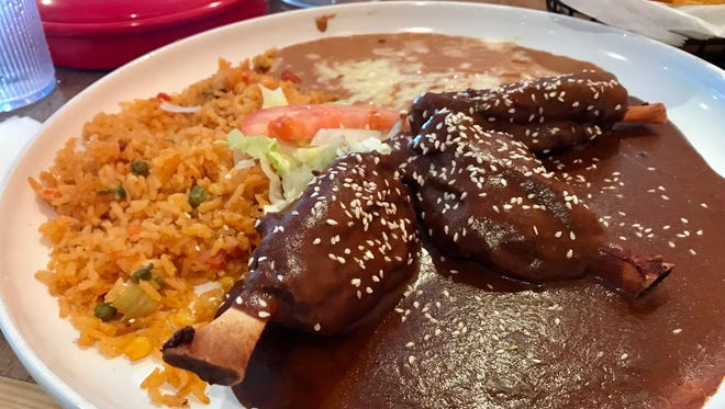 Pork shanks in mole sauce from Blu Agave in Cape Coral.