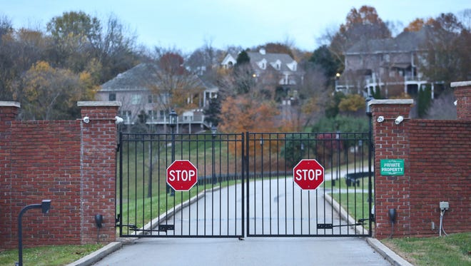 The gated community of Rivergreen, where retired doctor Rene Boucher allegedly tackled neighbor and U.S. Senator Rand Paul in early November over yard trimmings. Boucher and Paul have been neighbors for 17 years.