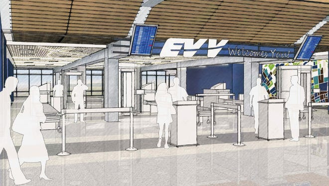Renderings show the renovations planned for Evansville Regional Airport