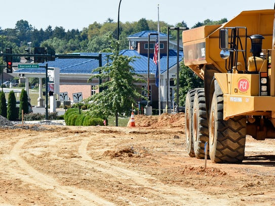 A construction crew from Fayetteville Contractors began