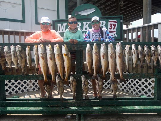 The morning was filled with the Peña family getting their fill of fishing not far from the JFK Causeway.