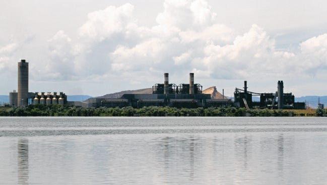 The Four Corners Power Plant is seen recently in Fruitland.