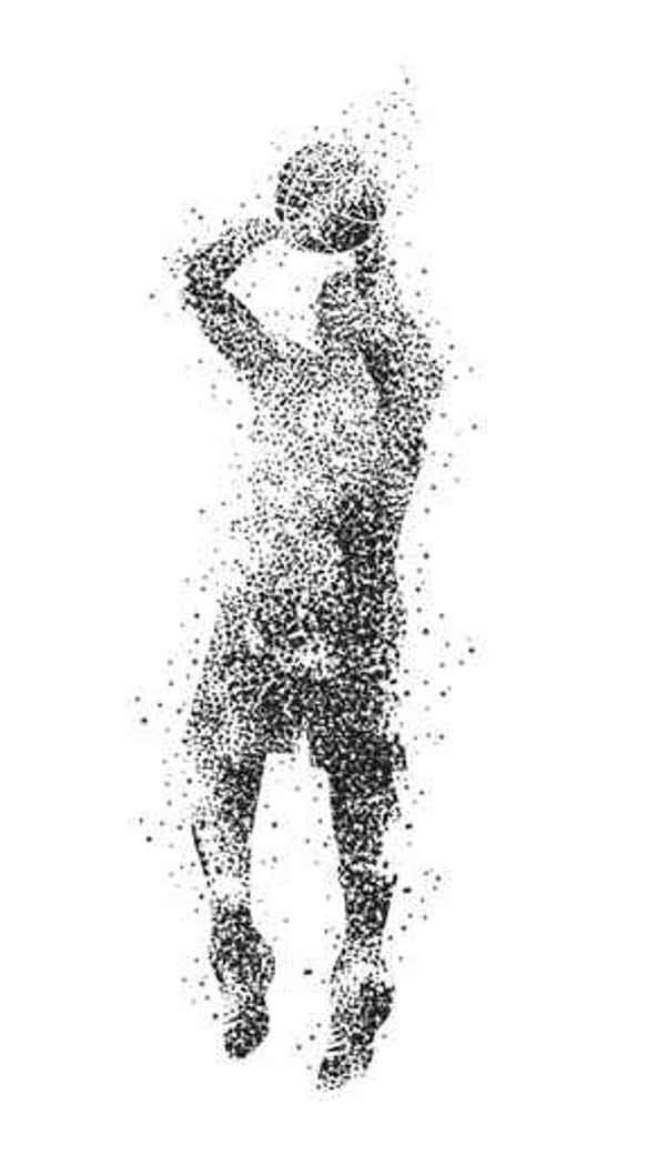 An artist's rendering of Albert Fuller, a basketball