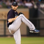 Mar 27, 2015; Surprise, AZ, USA; Seattle Mariners pitcher James Paxton (65) on the mound during a spring training game against the Kansas City Royals at Surprise Stadium. Mandatory Credit: Allan Henry-USA TODAY Sports