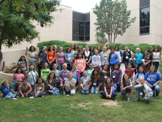 About 50 girls participated in several sessions at the third annual Expanding Your Horizons.