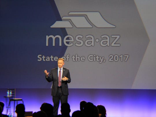 Mesa Mayor John Giles delivers his annual State of