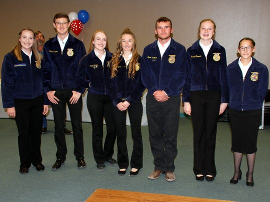 Students from the Deming High School FFA program gave  presentation on protocol and procedure.