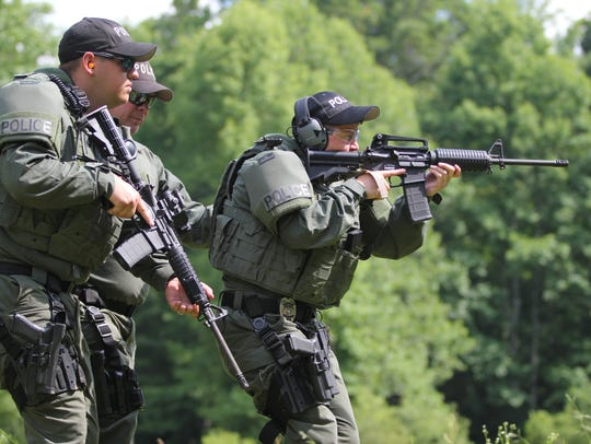 Members of Black Mountain's Special Response Team perform