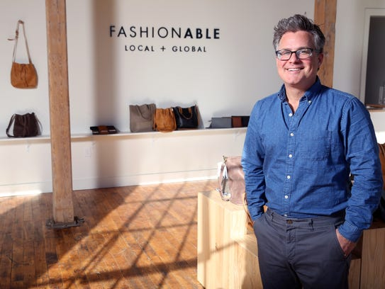 Barrett Ward, CEO of Fashionable, photographed at the