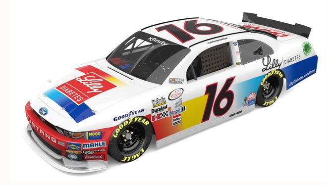 Ryan Reed's Lilly Diabetes Ford Mustang for Darlington weekend.