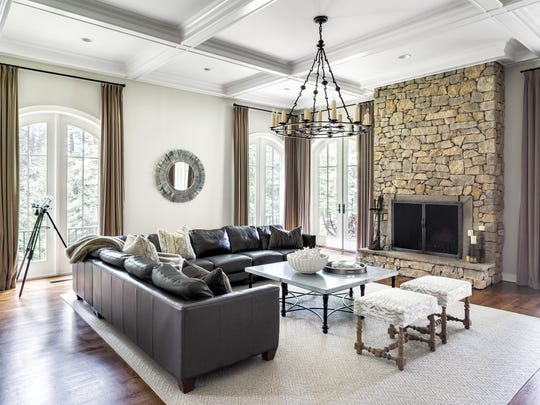 Family room designed by Ruth Richards, Interiors at Woodside