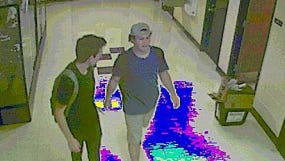 Marine City Police are asking for the public's help identifying these two men.
