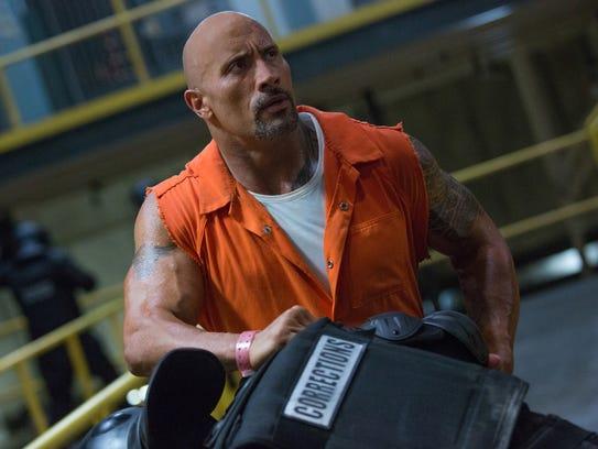 "Dwayne Johnson stars as lawman Luke Hobbs in ""The Fate"