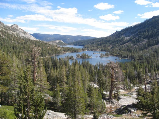 Echo Lakes is at the southern end of Desolation Wilderness
