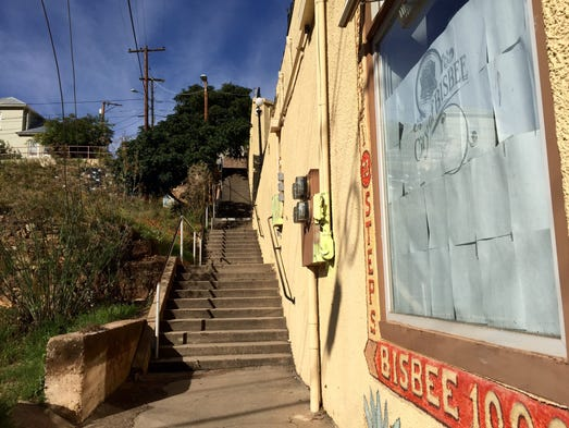 The town of Bisbee has more than 3,000 stairs lacing