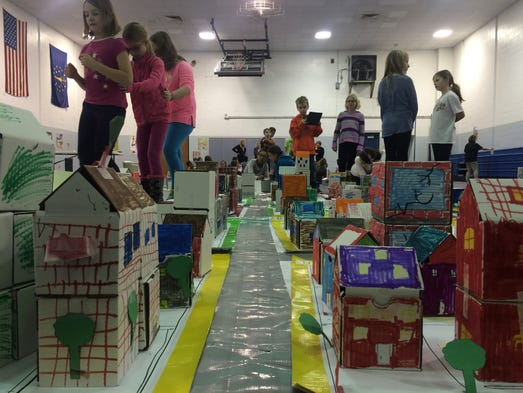 Third-grade students at Fishers Elementary School spent