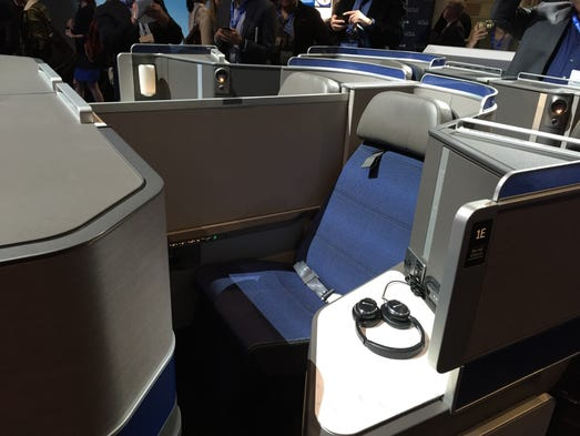 United unveils the new custom seats that it will install