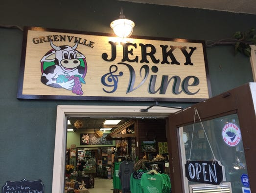 Greenville Jerky and Vine's name sums it up perfectly