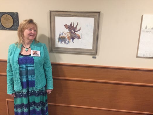 Patrice Donnelly of Davisburg with one of her two entries