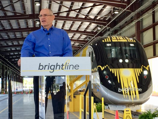 Brightline president Mike Reininger introduces the