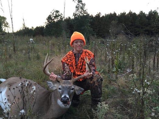 Sam Flood shot this 10-point buck on Oct. 8