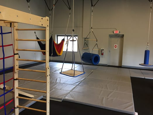 Swings are among the equipment available in the gym