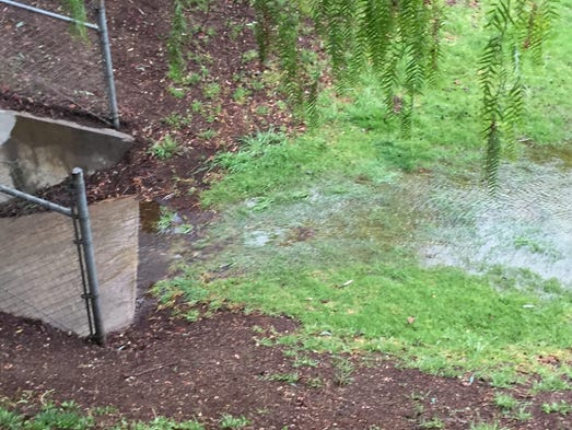 Concrete Storm Sewer : Local reservoir spills for a fourth day