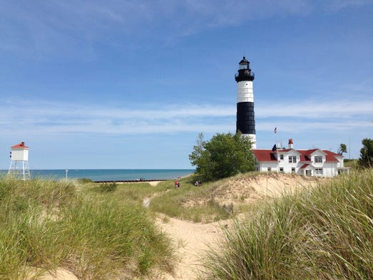 Beautiful lighthouses around the usa for What state has the most lighthouses